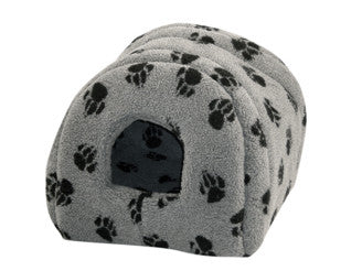 Sherpa Fleece Cat Igoo in Grey, Makes a Nice Dog Bed also