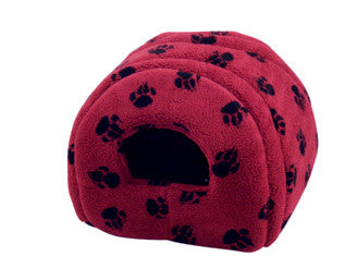 Sherpa Fleece Cat Igoo in Wine, Makes a Nice Dog Bed also