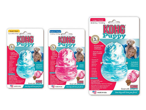 All Sizes of Kong Puppy Dog Toys