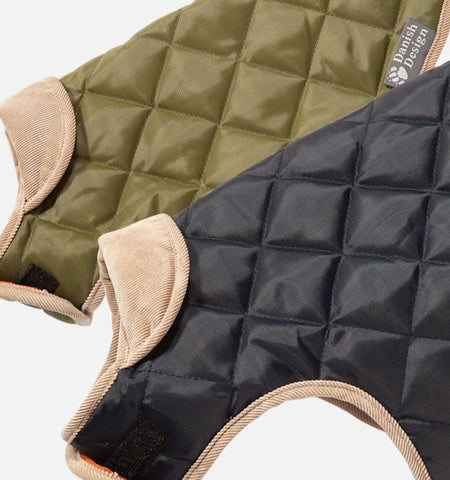 Quilted Dog Coat in Two Colurs, Green and Navy