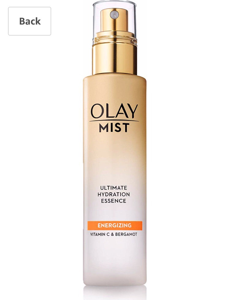 Face Mist by Olay, Hydrating Facial Spray, Energizing Essence with Vitamin C & Bergamot, 3.3 Fl Oz