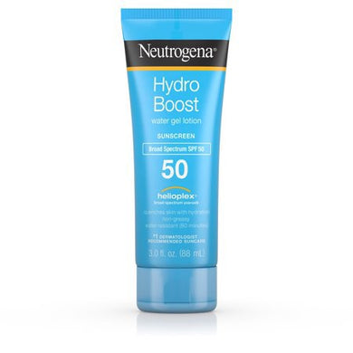 Neutrogena Hydro Boost Gel Moisturizing Sunscreen Lotion, SPF 50