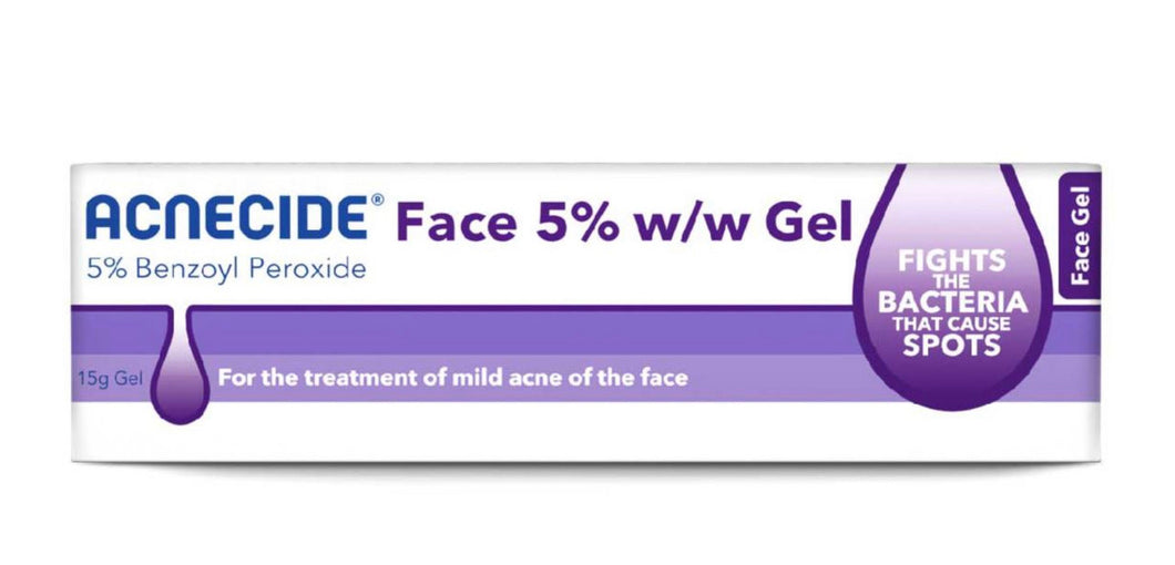 ACNECIDE Face Gel Spot Treatment Benzoyl Peroxide 15g