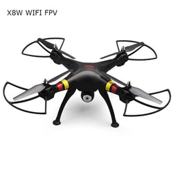 SYMA X8W WiFi FPV Headless Mode 2.4GHz 6 Axis Gyro RC Quadcopter with 0.3MP Camera 3D Roll Stumbling Function:BiBset.com