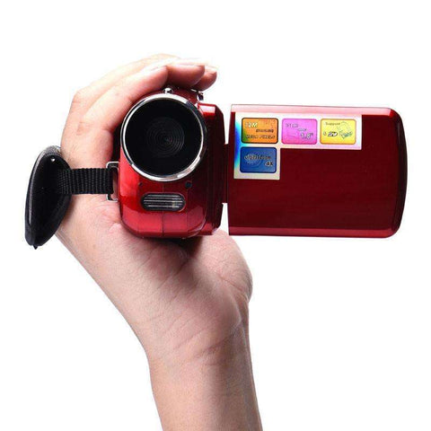 1.8 Inch TFT 4X Digital Zoom Mini Video Camera Red oct.16 Mini-camera:BiBset.com
