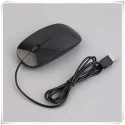 2.4GHz 3D 1200dpi Wired Optical Mouse Ultra Slim:BiBset.com