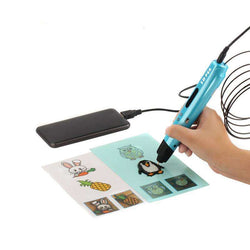 3 Colors 3D Drawing Pen With Free PLA Filament 3D Printing Pens:BiBset.com