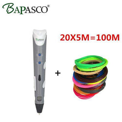 3D Pen Add 100M(20Color) abs filament 3d printing DIY:BiBset.com