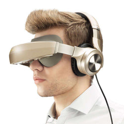All In One vr With HIFI Headphones 3D Virtual Reality Glasses 1080P HDMI Immersive ANC:BiBset.com