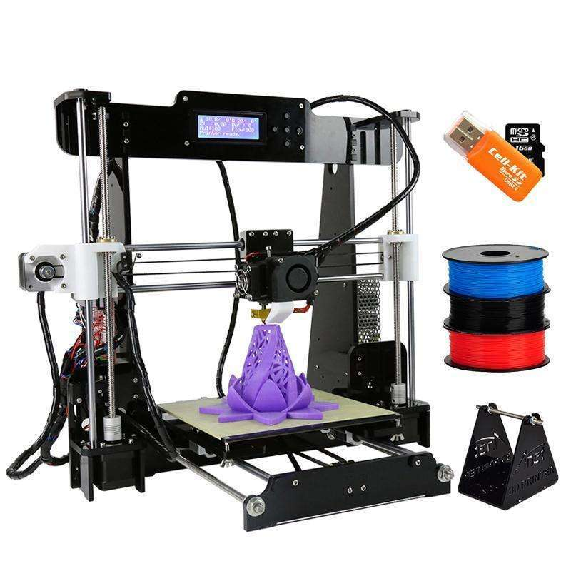 Anet A8 Reprap i3 impressora 3D Printer Large Printing Size DIY Kit With Filament SD Card:BiBset.com