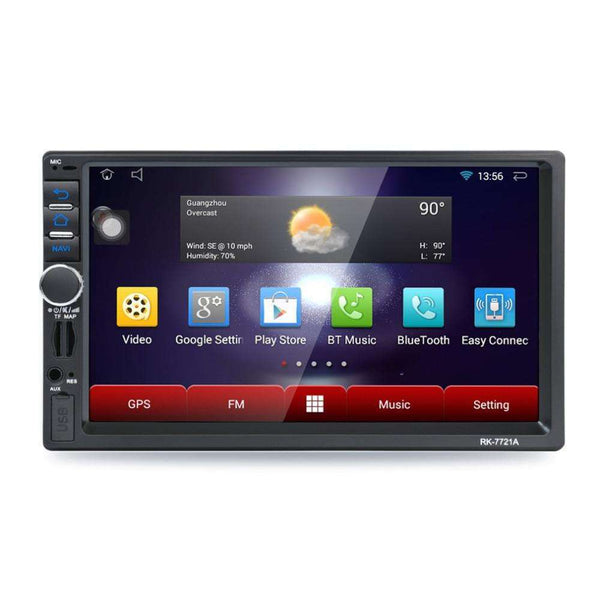 Car DVD Professional 7 Inch HD 1024*600 Capacitive Screen 7 Colorful Lights:BiBset.com