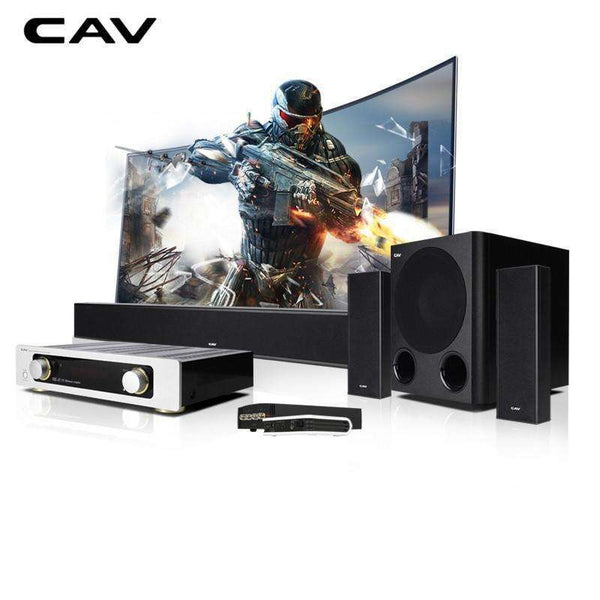 CAV Home Theater 5.1 DTS Trusurround Sound with Subwoofer:BiBset.com
