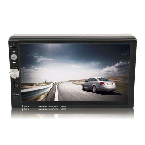 Double Din Car DVD Player 7 Inch Touch Screen Radio Bluetooth:BiBset.com
