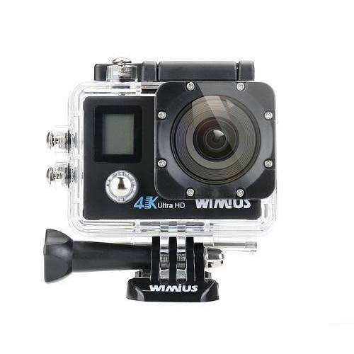 Double Screen Wifi Action Camera 4K Ultra HD Video Sports Mini Helmet Cam:BiBset.com