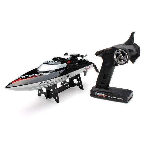 FT012 FT009 2.4 G Brushless RC Remote Control Racing Boat 45KM/H:BiBset.com