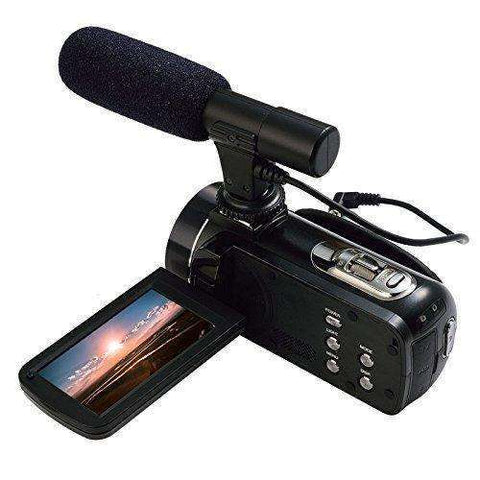 Full HD 1080P 30FPS Wifi Camcorder Portable Digital Video Camera with External Microphone:BiBset.com
