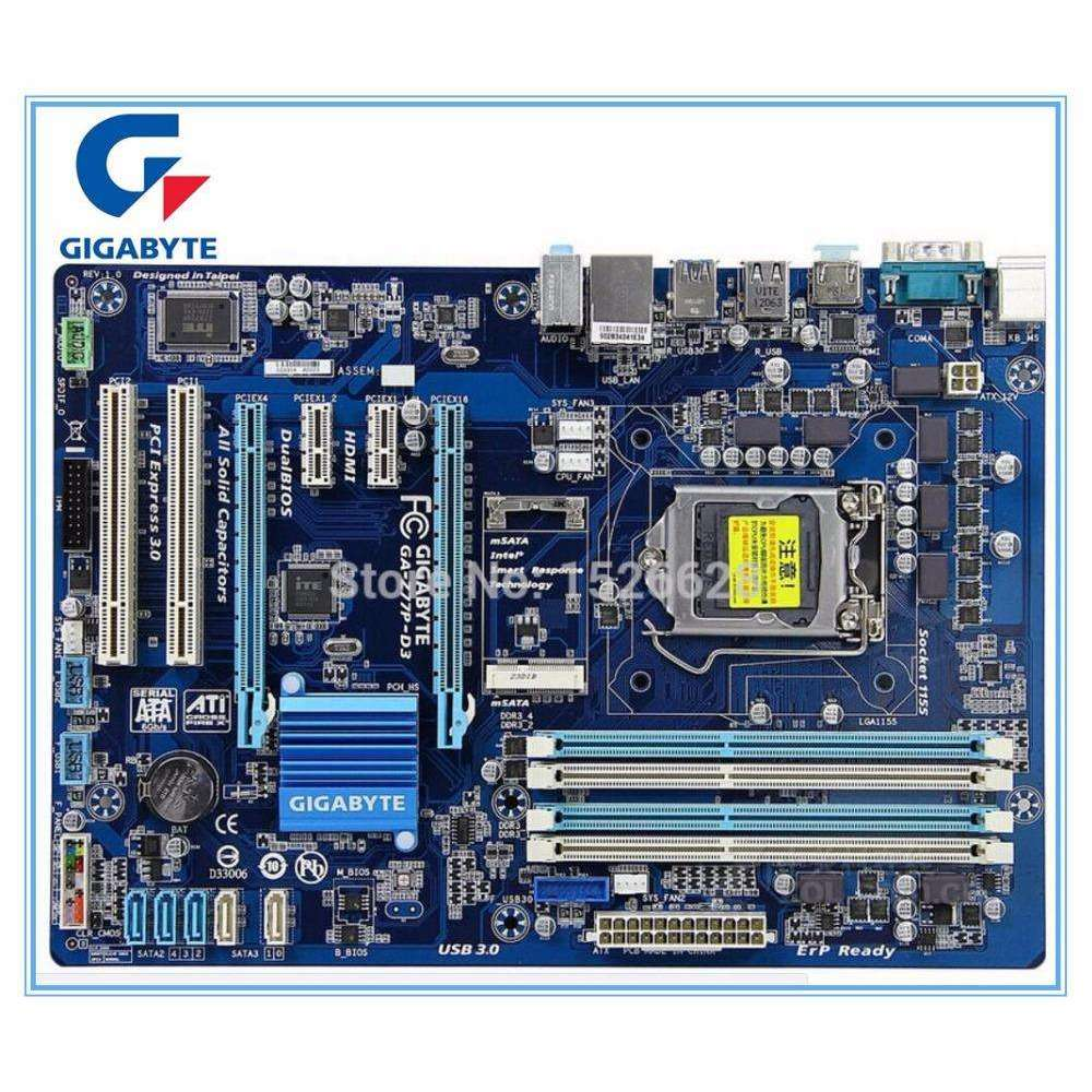 Gigabyte motherboard for GA-Z77P-D3 DDR3 LGA1155 boards Z77P-D3 32GB Z77 desktop motherboard:BiBset.com