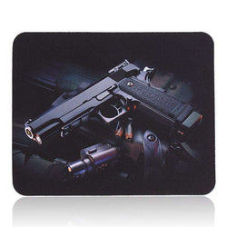 Gun Picture Anti-Slip Laptop PC gaming Mice Pad Mat Mousepad:BiBset.com