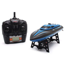 High Speed RC Boat H100 2.4GHz 4 Channel 35km/h Racing Remote Control Boat with LCD Screen:BiBset.com