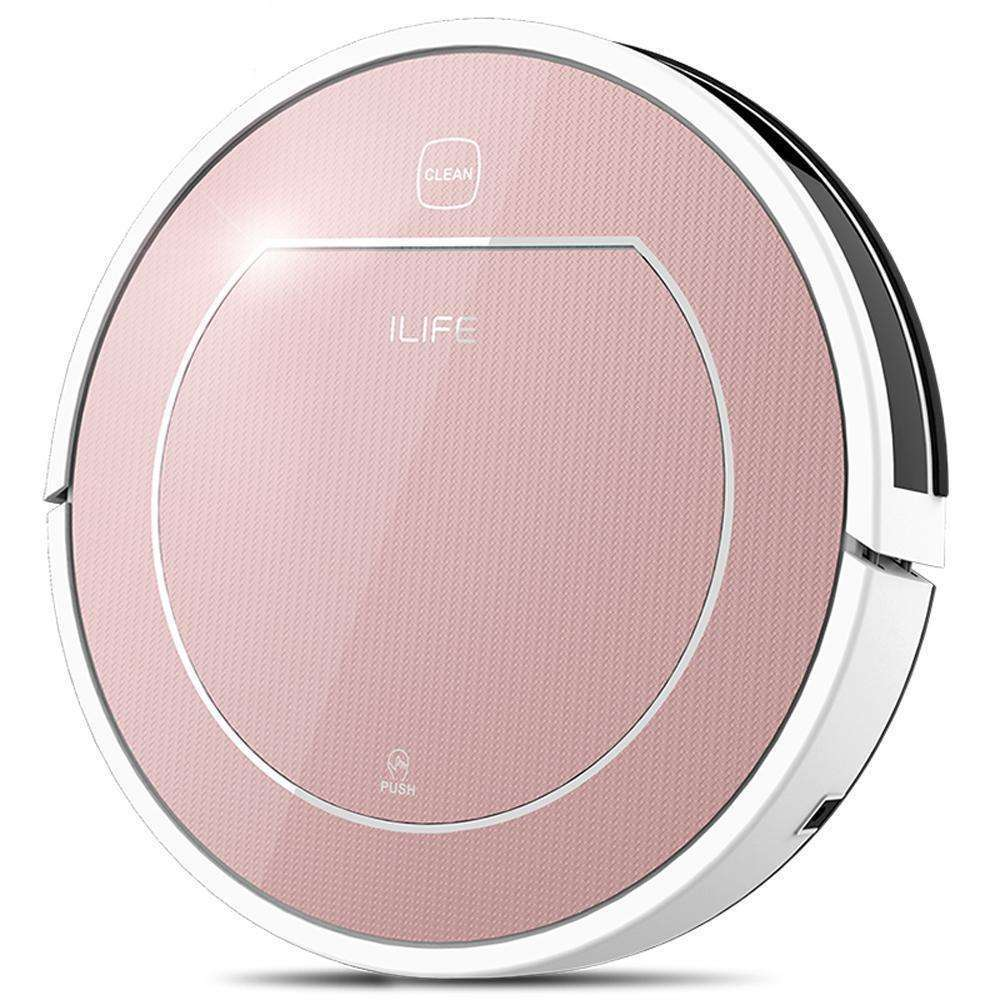 ILIFE V7s Pro Robot Vacuum Cleaner with Self-Charge Wet Mopping for Wood Floor:BiBset.com
