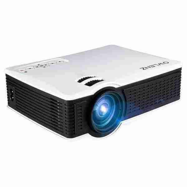 OWLENZ 1500 Lumens LCD Mini Projector Home Theater - 120 inch