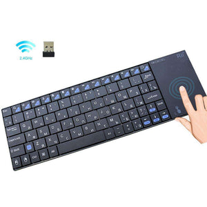 Rii i12plus Wireless Keyboard with Touchpad Russian Spanish French  English Version:BiBset.com