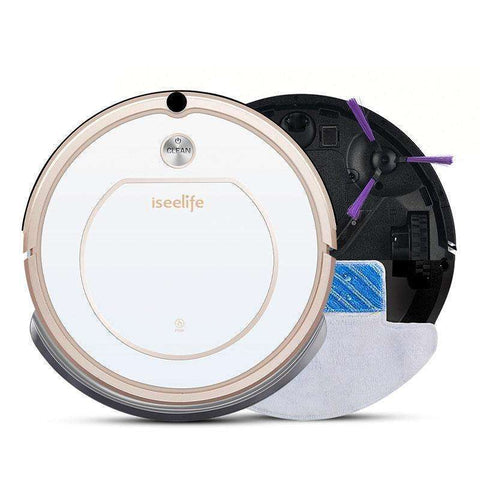 Smart Robot Vacuum Cleaner for Home 2 in 1 Dry & Wet Auto Charge:BiBset.com