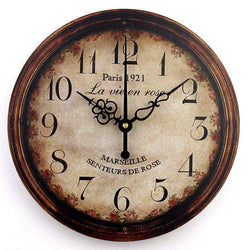 vintage large decorative wall clock 3d modern design:BiBset.com