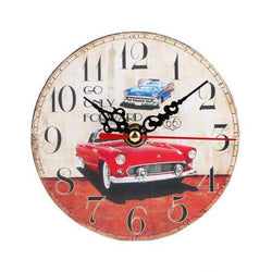 Vintage Style Silent Antique Wall Clock Battery Powered wood:BiBset.com