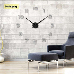 Wall Clock 3d Diy Acrylic Mirror Stickers Home Decoration for Living Room Quartz:BiBset.com