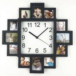 Wall Clock Modern Design DIY Photo Frame Clock Home Decor:BiBset.com