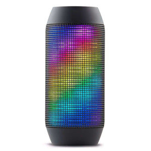 Wireless Bluetooth 3.0 Speaker with Colorful LED Light - BLACK:BiBset.com