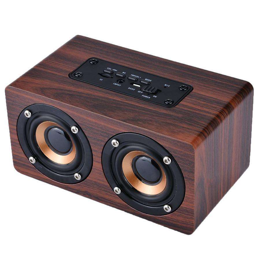 Wooden Bluetooth Speaker Support TF card player