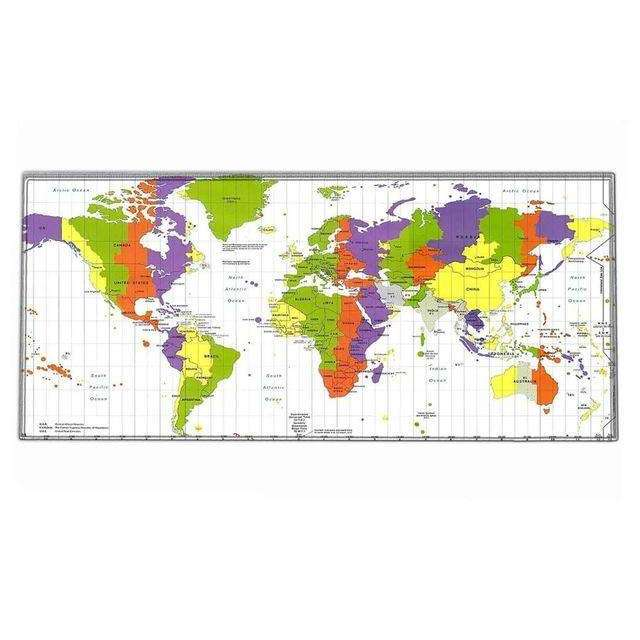 World map mouse pad large size mat desk for office work gaming world map mouse pad large size mat desk for office work gamingbibset gumiabroncs Images