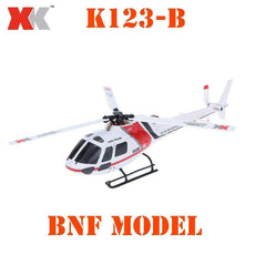 XK AS350 K123-B 6CH 3D 6G System Brushless Motor RC BNF Helicopter