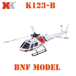 XK AS350 K123-B 6CH 3D 6G System Brushless Motor RC BNF Helicopter:BiBset.com