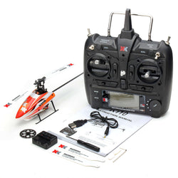 XK K110 6CH Brushless Single Blade RC Helicopter RTF with 3D and 6G Mode:BiBset.com