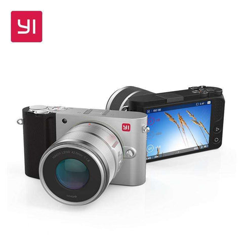 YI M1 Mirrorless Digital Camera With YI 12-40mm F3.5-5.6 Zoom Lens LCD RAW 20MP:BiBset.com