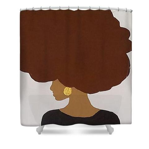 Afro Love Shower Curtain