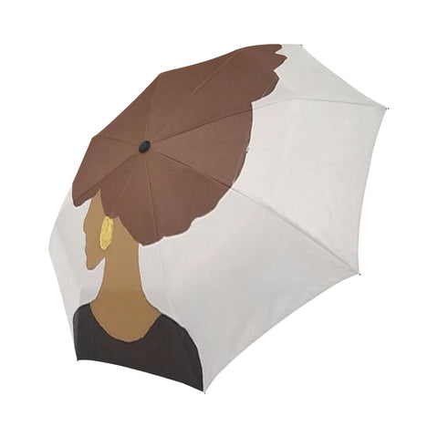 Afro Love Automatic Foldable Umbrella