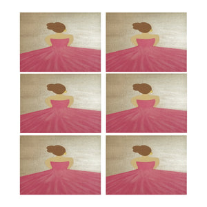 "Ballerina II Placemat Placemats 14"" x 19"" (Set of 6)"