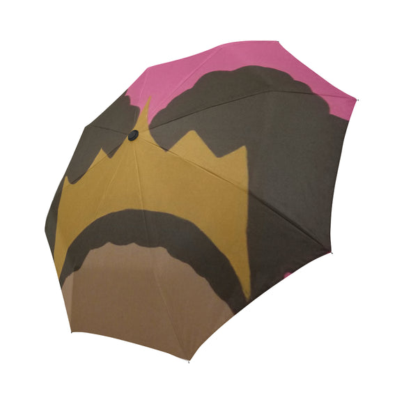 afro puff princess Automatic Foldable Umbrella