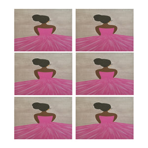 "Ballerina Placemat Placemats 14"" x 19"" (Set of 6)"