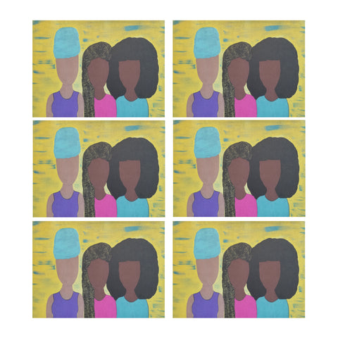 "Sister Sister Placemat Placemats 14"" x 19"" (Set of 6)"