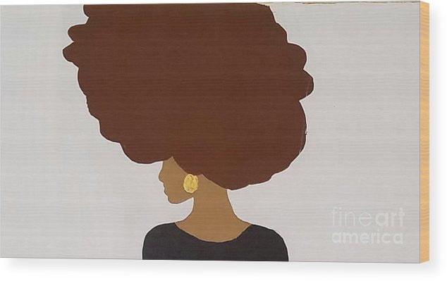 Wood Print - Afro Love