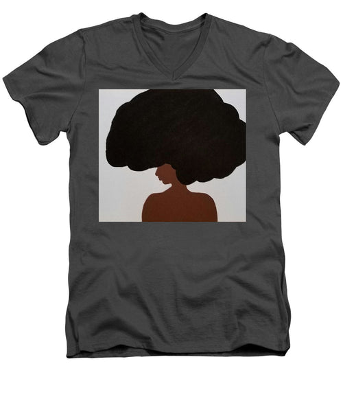 Afro Love II - Men's V-Neck T-Shirt