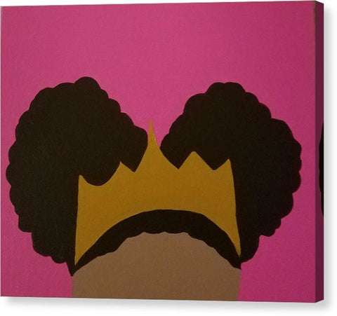Afro Puff Princess - Canvas Print