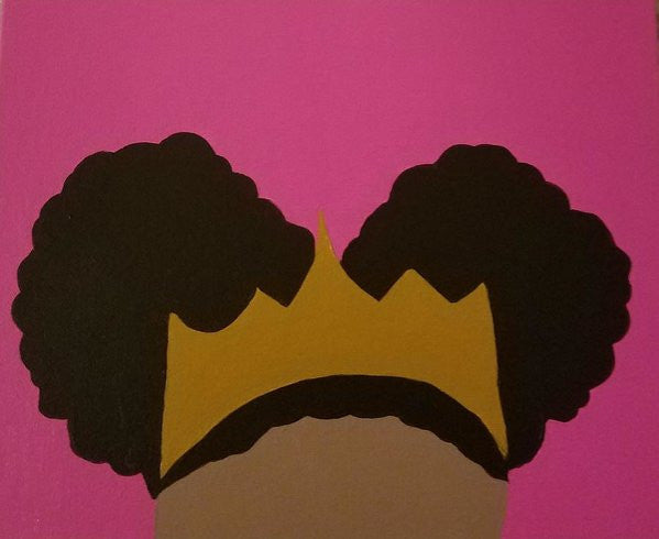 Afro Puff Princess - Art Print