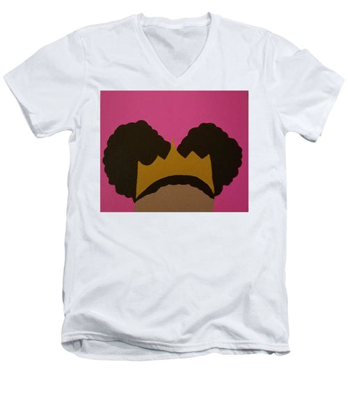 Afro Puff Princess - Men's V-Neck T-Shirt
