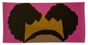 Afro Puff Princess - Beach Towel